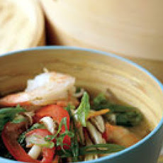 Basil-Steamed Shrimp with Soba Noodles