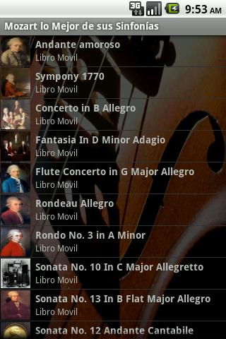 Sinfonías de Mozart - Audio