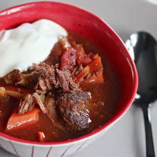 Slow Cooker Harissa Beef Stew With Lemon Yogurt