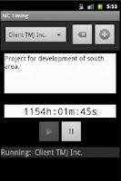 Screenshot of MC Timing - Time Tracker