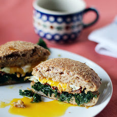Kale, Bacon and Egg Sandwich