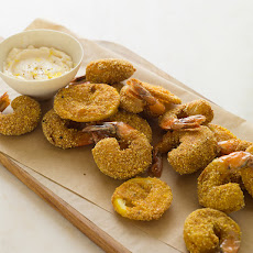 Cornmeal Crusted Mustard Shrimp