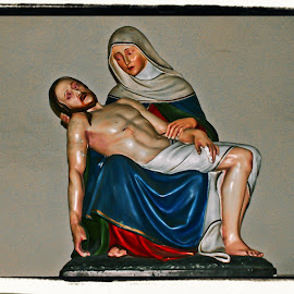 Mother Mary And Jesus by Brenda Hooper - Artistic Objects Antiques ( church, mother, jesus, mary,  )