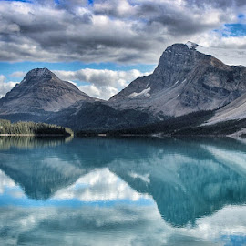 Bow Lake by Dave Kleine - Landscapes Mountains & Hills