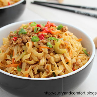 Lo Mein Noodles with Ground Pork