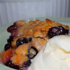 Huckleberry Peach Cobbler