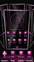 Screenshot of Slick Launcher Theme Pink