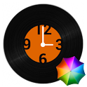 Vinyl record clock widget icon