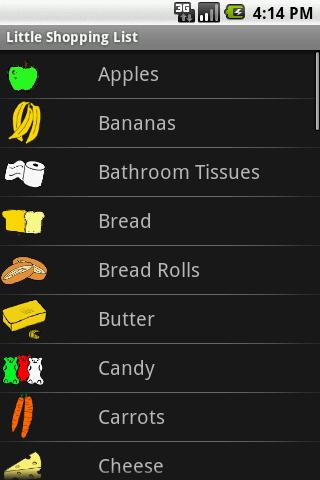 Little Shopping List
