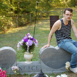 The tender age of 21 by Kathryn Owens - People Portraits of Men ( life, graves, death, kentucky,  )