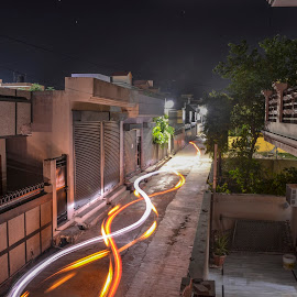 Nightshot by AsHu Jangra - Buildings & Architecture Homes ( night photography, night scene, nighttime, night time, night, night shot, nightscape )