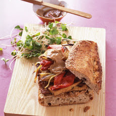 Crisp Tofu Sandwich With Peanut-Ginger Sauce