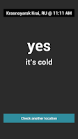 Screenshot of Is It Cold