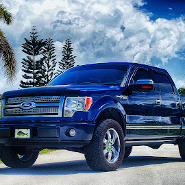 In a time of Blues by Ian Gronosky - Transportation Automobiles ( hdr, for, truck, beautiful, landscape )