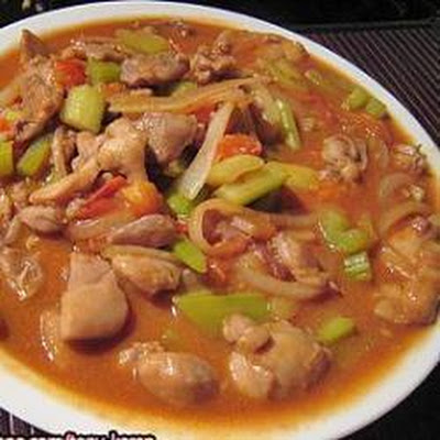 Chicken, Tomato And Celery Stir Fry