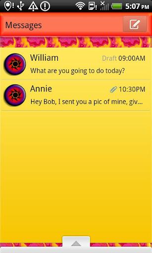 GO SMS THEME SunBurstSMS
