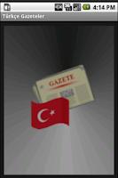 Screenshot of Turkish Newspapers