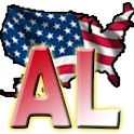 USA Alabama clock flag icon