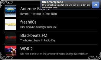 Screenshot of real Radio Germany