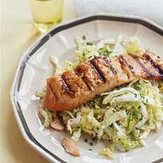Soy-Ginger Grilled Salmon and Napa Sesame Slaw