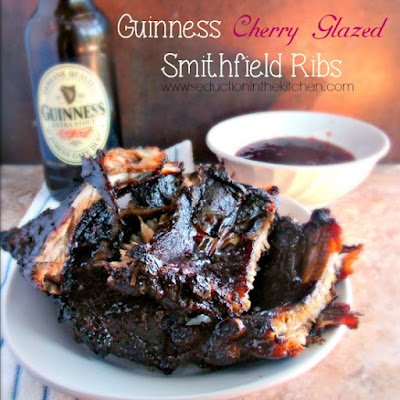 Guinness Cherry Glazed Smithfield Ribs #weavemade #ReadySetRibs #ad