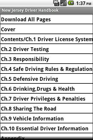 New Jersey Driver Handbook
