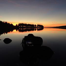 Back stage lake servière by Stefoto Auvergne - Instagram & Mobile iPhone ( canon, skyline, sunrises, beautiful, morning glory, lake, morning, sunlight, canon eos, canon 7d, sun, beautifull day, 7d, sunrise )