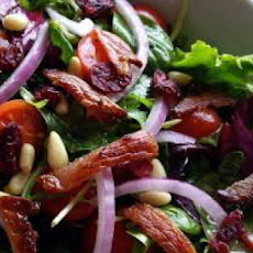 Garden Salad With Cranberries, Pine Nuts, and Bacon