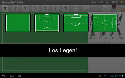 Screenshot #1 of SoccerSketch / Android