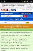 Screenshot of detikForum Launcher