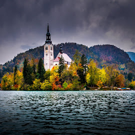 Lake Bled by Alan Grubelić - Buildings & Architecture Public & Historical ( church, autumn, slovenia, bled, lake )