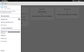 Screenshot of iKey Multi Language Keyboard