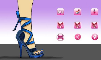 Screenshot of Sally's Shoe Design Lite