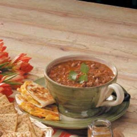 Pork And Pinto Bean Chili Recipe — Dishmaps