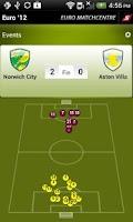 Screenshot of Euro '12 MatchCentre