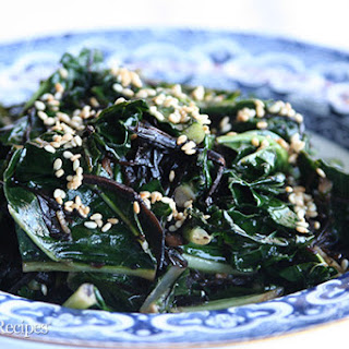 Kale with Seaweed, Sesame and Ginger