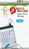 Screenshot of Learn Hindi Alphabet Writing