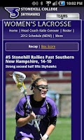 Screenshot of Stonehill Skyhawks