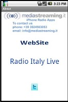 Screenshot of Radio Italy Live