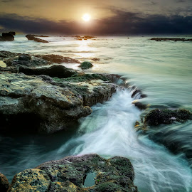 Sunset in Mengening Beach Bali by Teddy Hariyanto - Landscapes Beaches