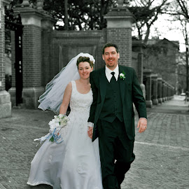 by Jeff Fox - Wedding Bride & Groom