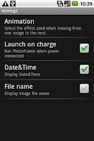 Screenshot of PhotoFrame free