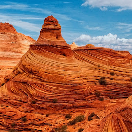 Lighthouse at The Wave by Becky Adolf - Landscapes Deserts ( desert, the wave, utah, colors, layers, arizona, sandstone )