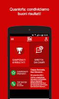 Screenshot of Quantofa: risultati calcio
