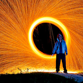 man on fire by Hitsugaya Syaiful - Abstract Fire & Fireworks