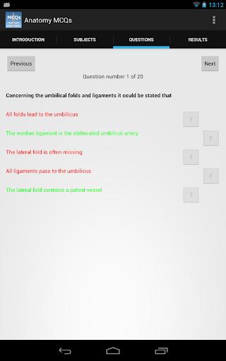 Anatomy MCQs - screenshot