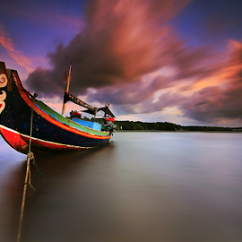 Tribal Boat by Nghcui Agustina - Transportation Boats