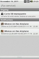Screenshot of Silence on the Airplane