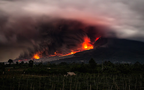 Mount Sinabung's Lava by Johan Joe - Landscapes Mountains & Hills