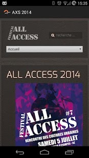 Festival All Access - screenshot
